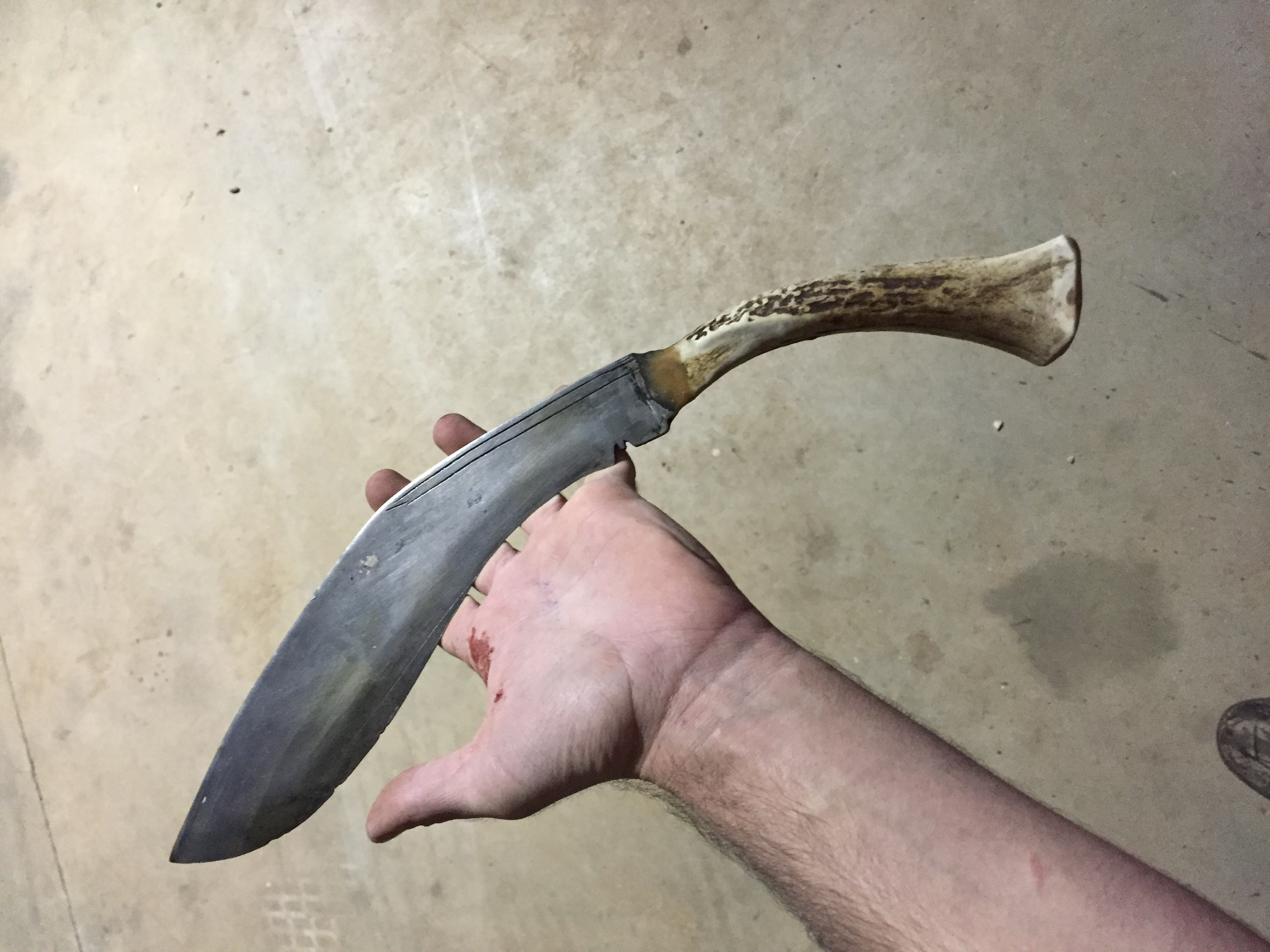 How to Make a Knife Handle Out of Deer Antler